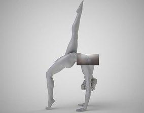 Gymnast relaxing 3D print model