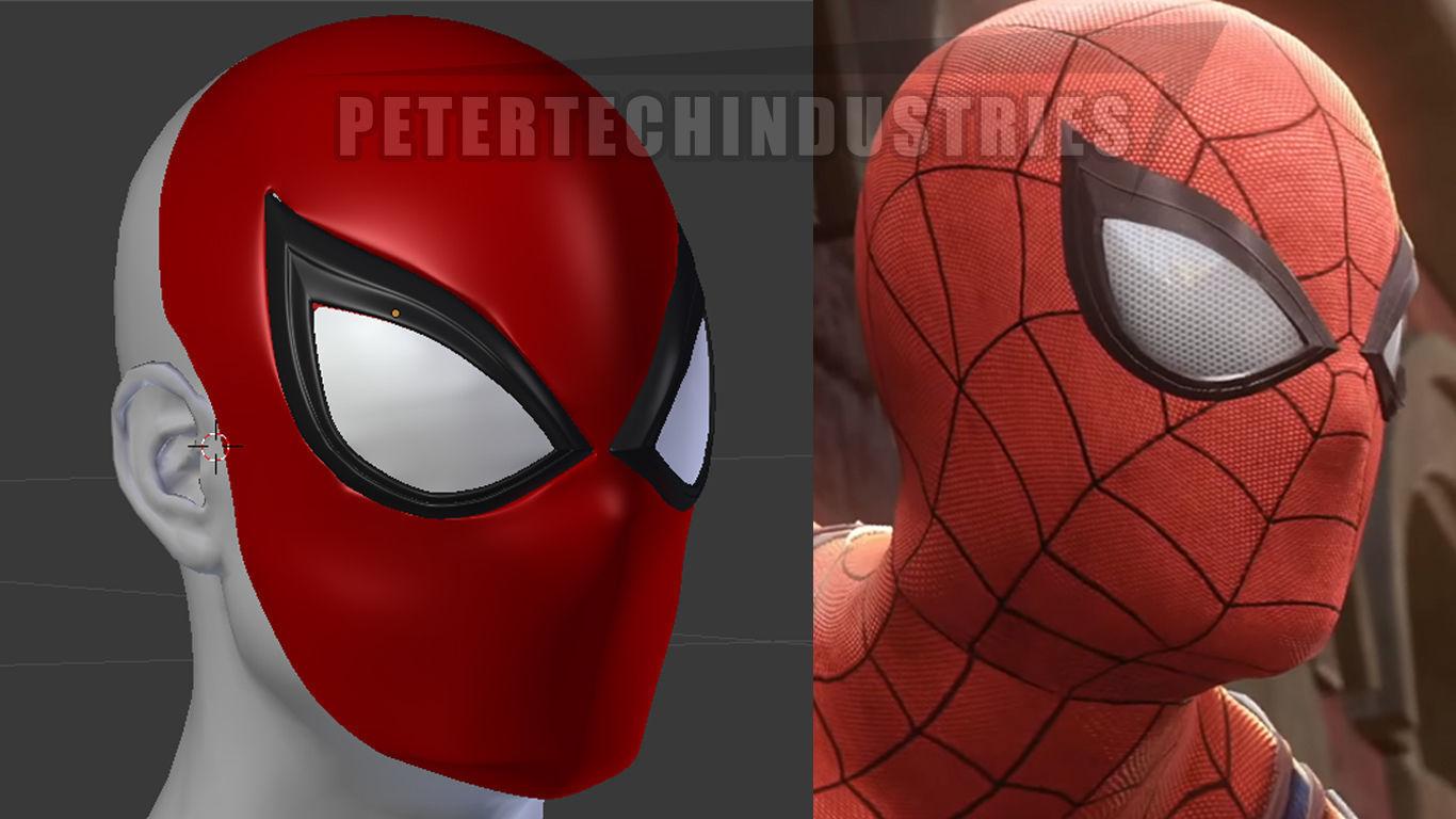 Spiderman Ps4 Faceshell Lenses New Version 3d Print Model