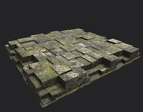 Low poly Ruin Temple Block 06 181116 3D asset