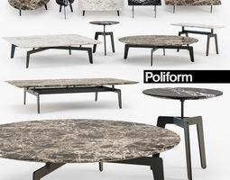 3D Poliform tribeca table set