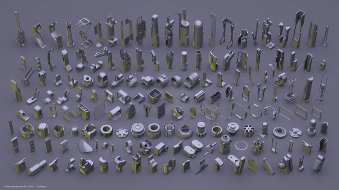 hardsurface random kit v1 3d model fbx 1