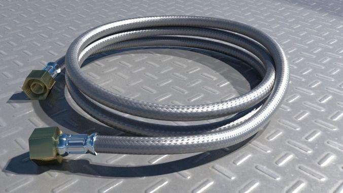 pneumatic hose cable 3d model obj mtl fbx blend 1