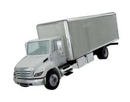 3D model Hino 338 low poly box truck