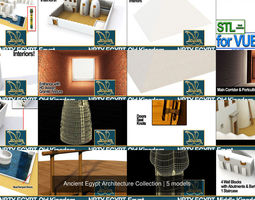 Ancient Egypt Architecture Collection 3D