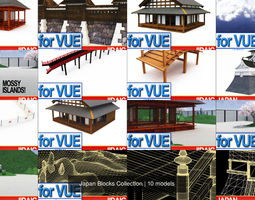 3D collection Japan Blocks Collection