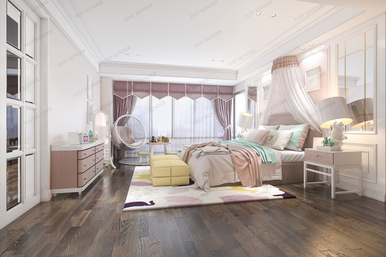 luxury modern kid bedroom suite in hotel 3D model   3D model