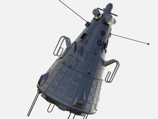 sputnik 3 3d model obj mtl fbx stl blend 1