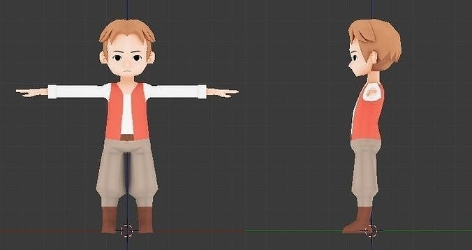 Rigged and Animated Lowpoly Swordman for gameDev