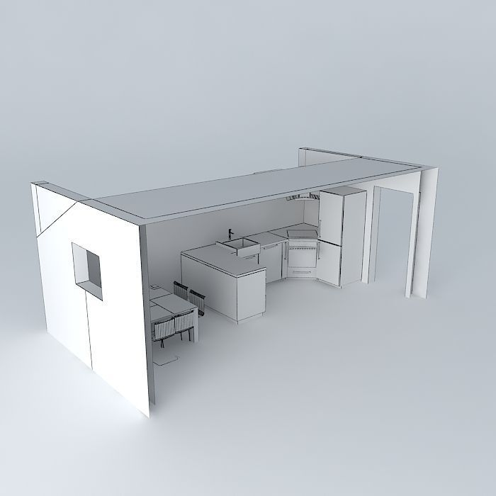 3d Max Kitchen Interior Design: Kitchen Interior Free 3D Model MAX OBJ 3DS FBX STL DAE