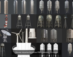 Ultimate Industrial Structures PBR Collection 3D