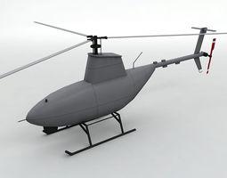 3D model Firescout UAV Unmanned Helicopter