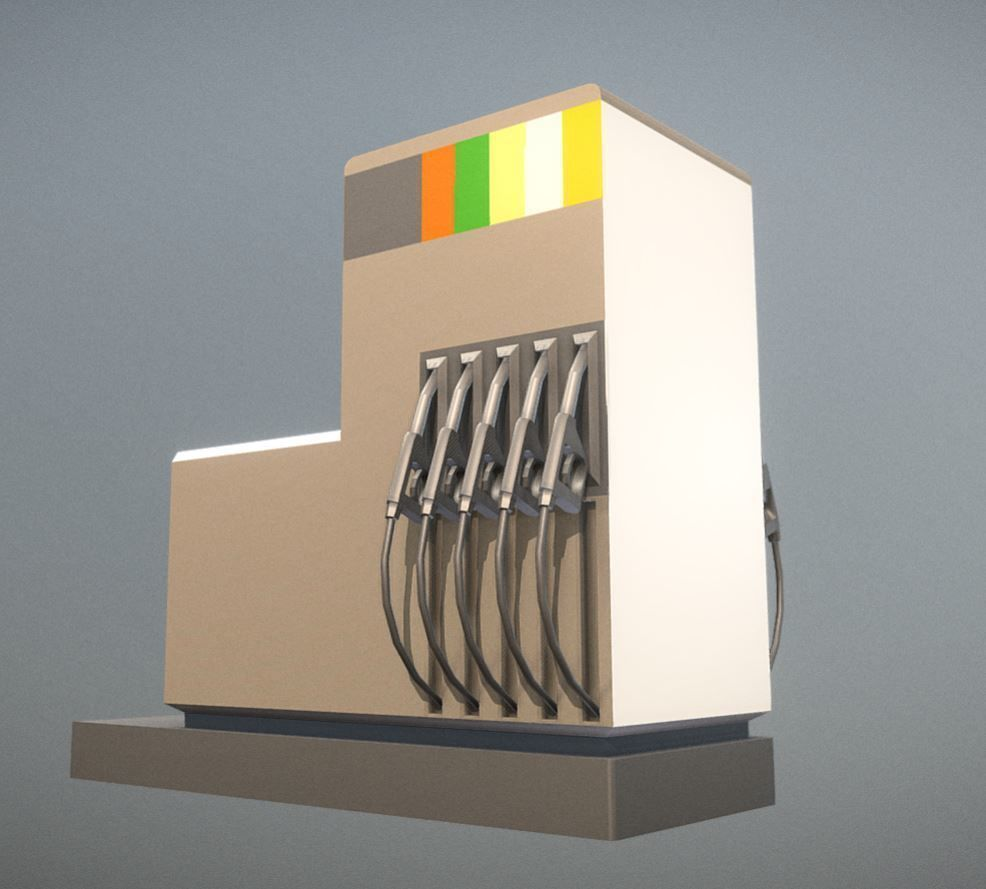 Fuel Dispensers 2 Low- Poly