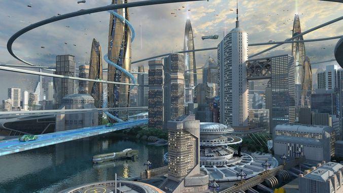 future city 03 3d model max tga 1