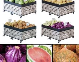 Fruit-Vegetable display racks 3D model