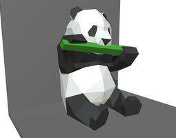 games panda figure low poly 3D printable model