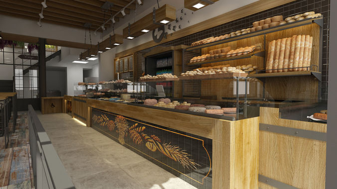 3d modern pastery 3d model max 1