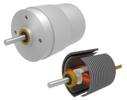 DC Electric Motor 2 coils 3D