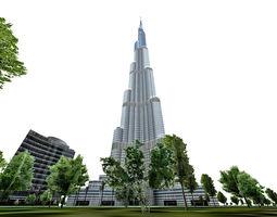 Burj Khalifa Dubai 3D model