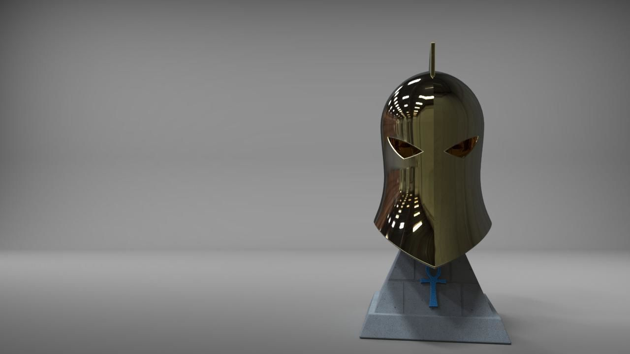 Dr Fate Helmet and stand
