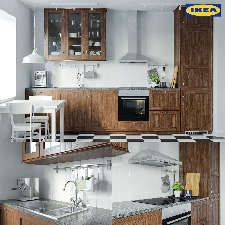 Ikea Edserum kitchen set 3D model   CGTrader