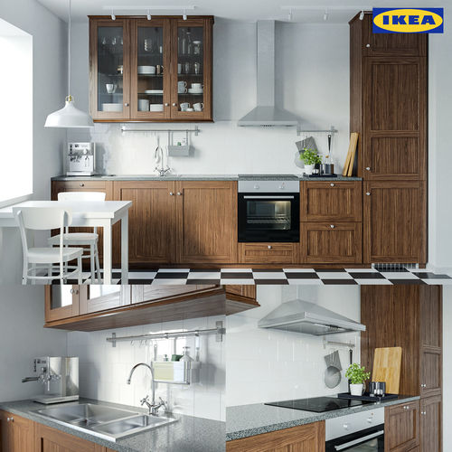 Ikea Kitchen Set: Ikea Edserum Kitchen Set 3D Model