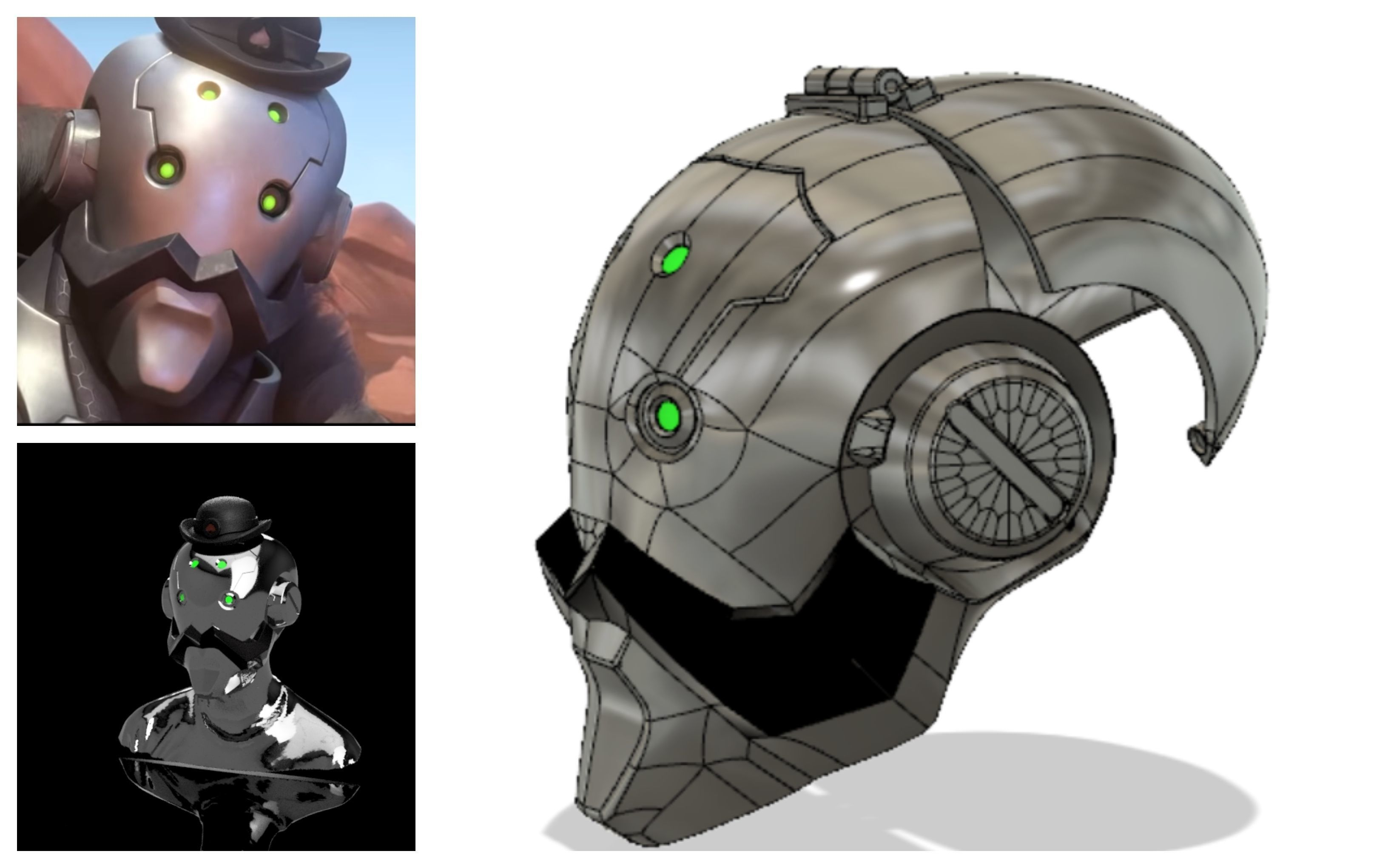 Bob s helmet 3D model for cosplay
