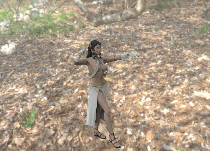 elven sorceress 3d model stl 1