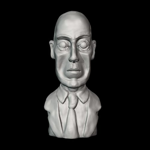 lovecraft fantasy awards 3d model obj mtl fbx stl 1