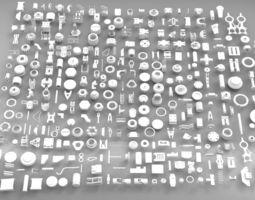 3D asset Hard Surface Sci-Fi Industrial KitBash
