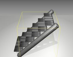 Futuristic Stairs - 15 - Basic Textures 3D model