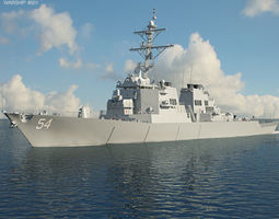 3D model USS Arleigh Burke DDG-51