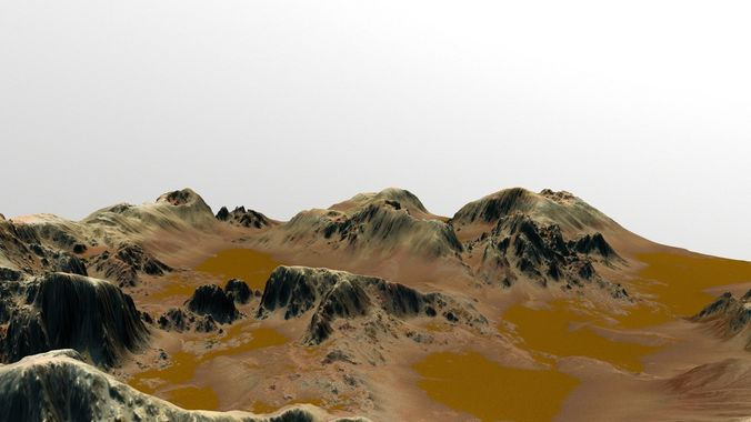 mars  canyon  3d model low-poly obj mtl fbx blend 1