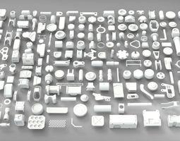 3D model Hard Surface Sci-Fi Industrial KitBash V-2