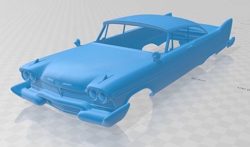 Plymouth Grand Sport Fury 1958 Printable Body Car