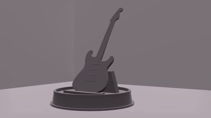 bass guitar for print 3d model stl 1