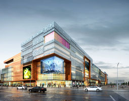 City Shopping Mall 3D model metro high