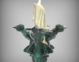 Gothic Candelabra 3D