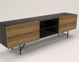 3D asset Lora 4 drawers TV cabinet