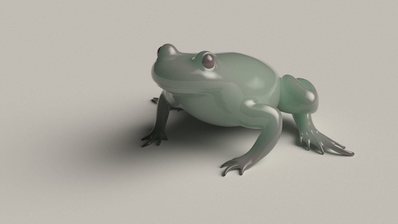 Frog basemesh version B - 5 k tris