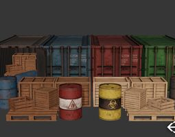 Industrial Cargo Pack 3D model