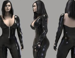 Action Girl 3D asset