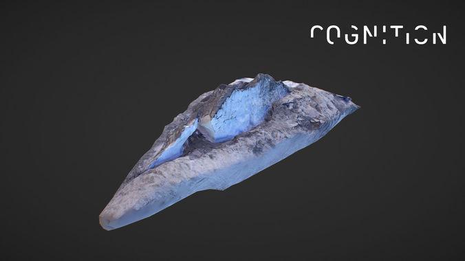 iceland glacier drone 3d model obj mtl 1