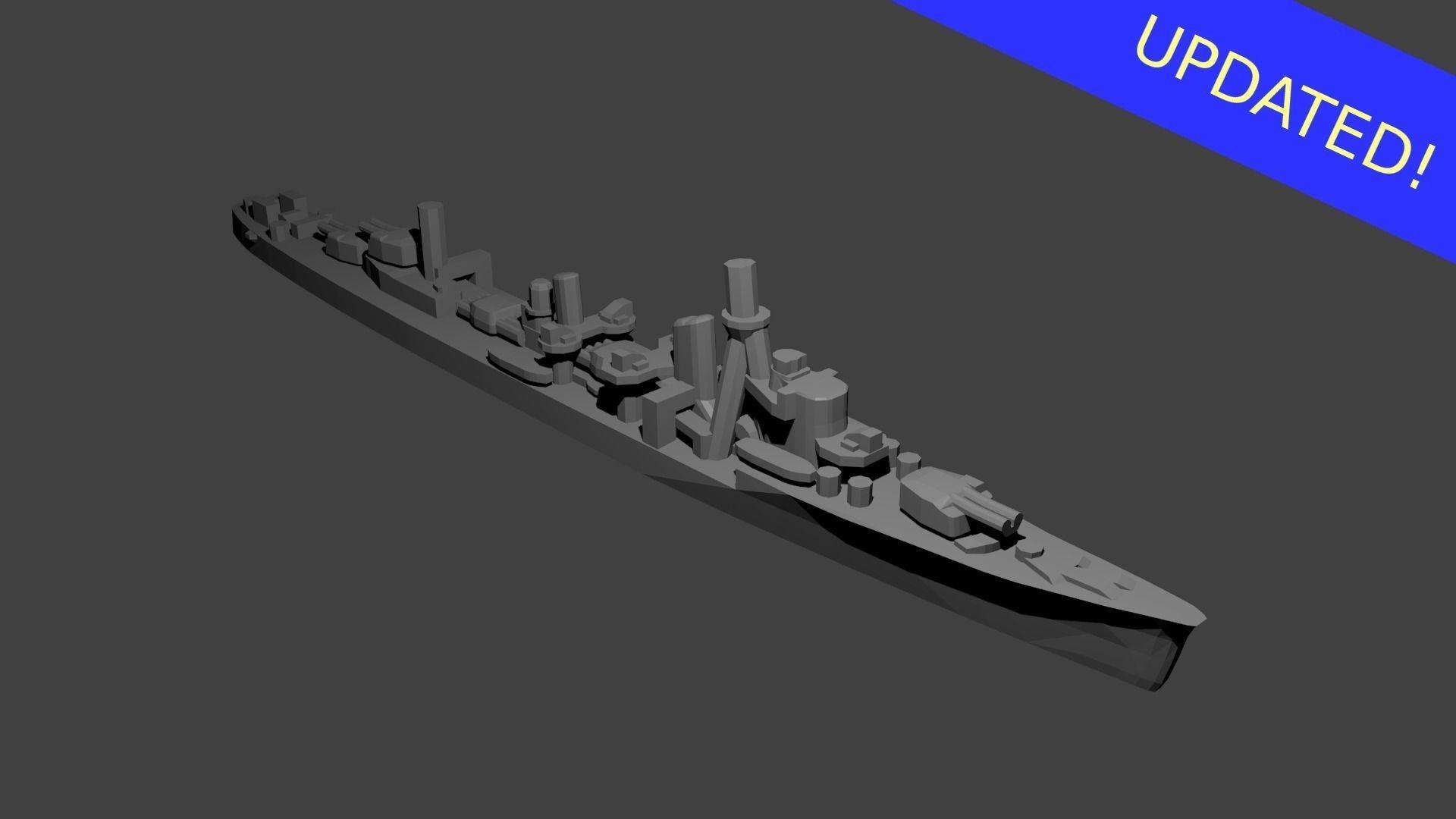 Japanese Yugumo Class Destroyer Warship