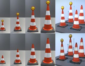 3D Traffic Cones All Sizes