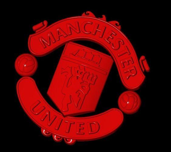 Manchester United Football Club 3d Logo 3d Model 3d Printable Obj Stl