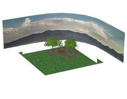3D Backyard Scene