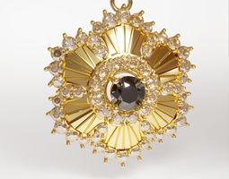 gold 3d printable sun pendant jewelry