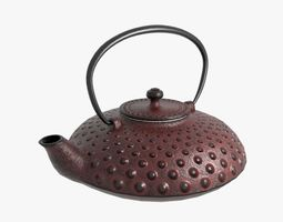 3D Cast iron teapot