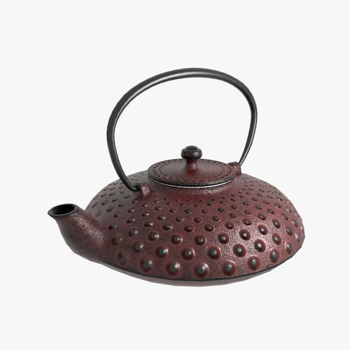 cast iron teapot 3d model obj mtl fbx blend 1