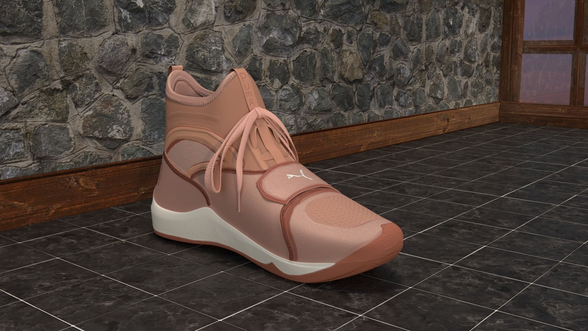 Puma Phenom Pink Shoe Trainers made in Blender 2 79 | 3D model